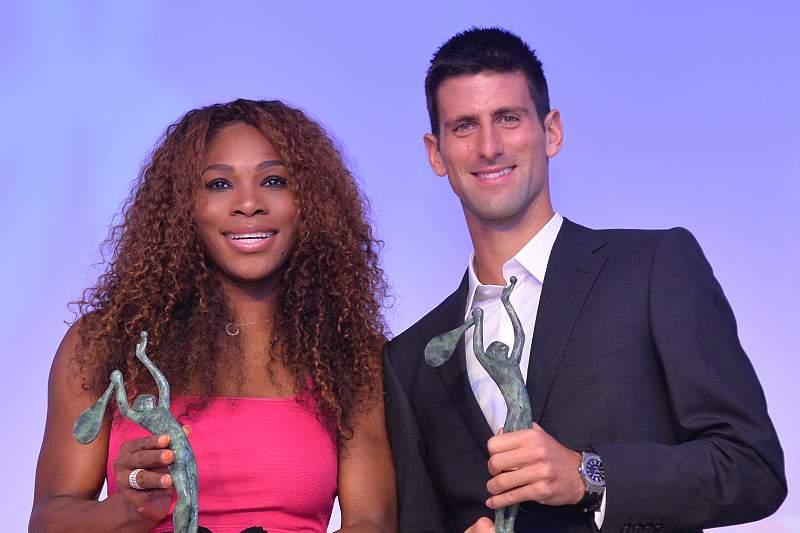 Serena Williams e Novak Djokovic tenistas do ano