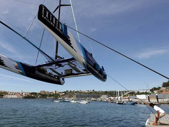 Rio Douro preparado para o Extreme Sailing Series