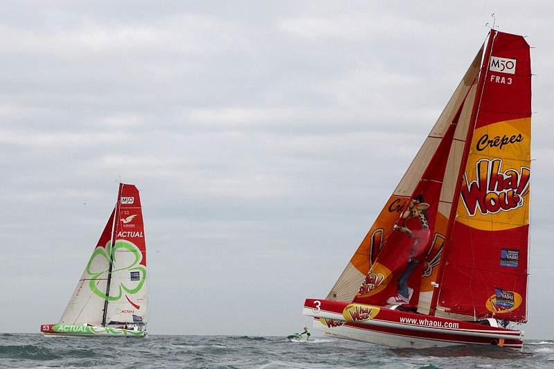 MOD70 e Maxi 80 largaram de Lisboa para a 2.ª etapa