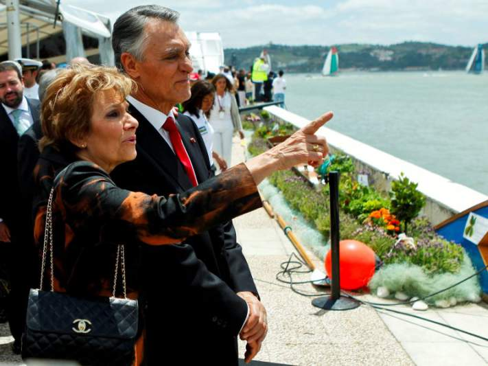 Cavaco Silva na cerimónia de abertura