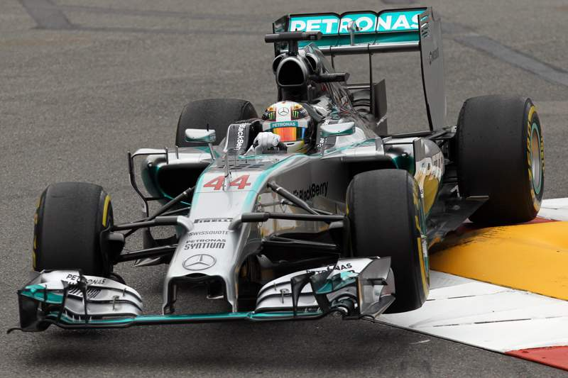 Lewis Hamilton mais rápido no GP Mónaco