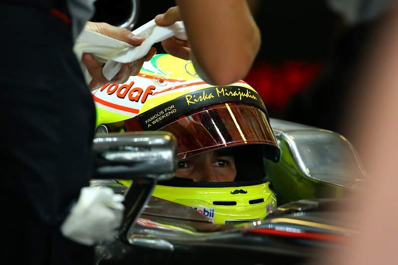 Sergio Pérez na Force India ao lado de Nico Hülkenberg