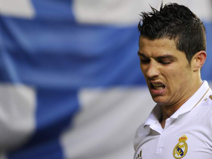 Ronaldo já enviou 13 bolas aos postes