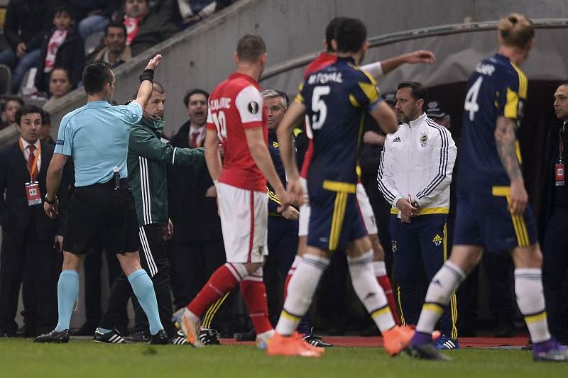 Vítor Pereira foi expulso durante o jogo entre SC Braga e Fenerbahçe