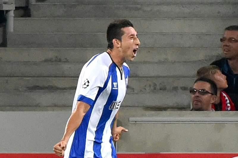 Herrera festeja o golo marcado