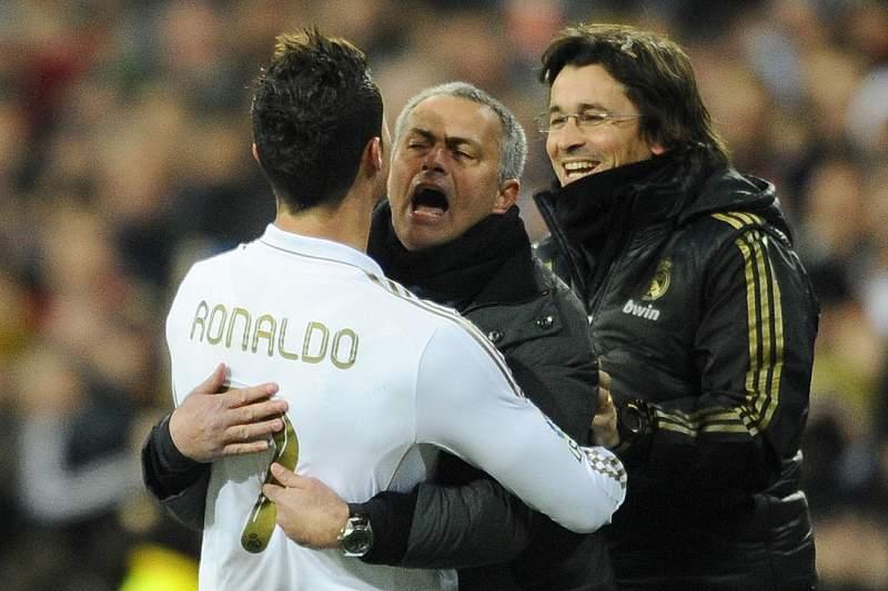 Ronaldo e Mourinho, quando os dois estavam no Real Madrid