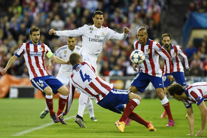 Atlético e Real Madrid na primeira mão