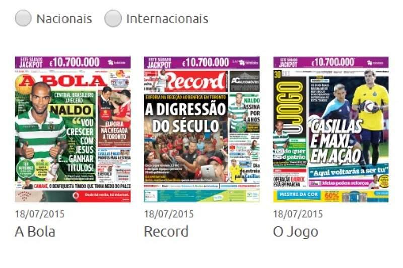 Revista de Imprensa de 18/07