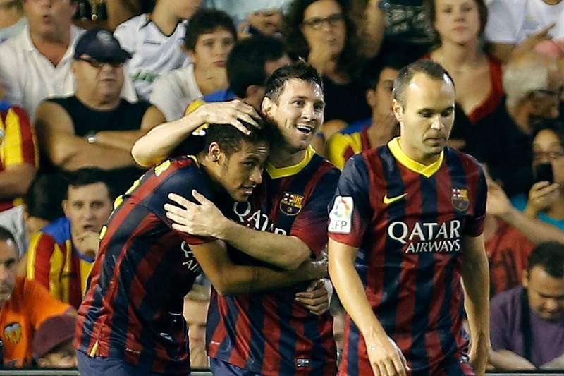Neymar, Messi e Iniesta