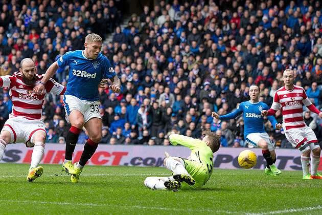 Glasgow Rangers venceram o Hamilton por 4-0