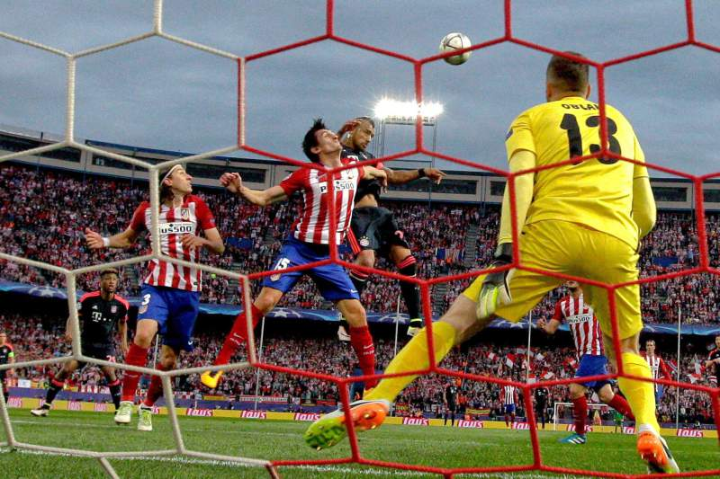 Jan Oblak no encontro entre o Bayern e o Atlético de Madrid