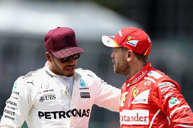 Lewis Hamilton e Sebastien Vettel
