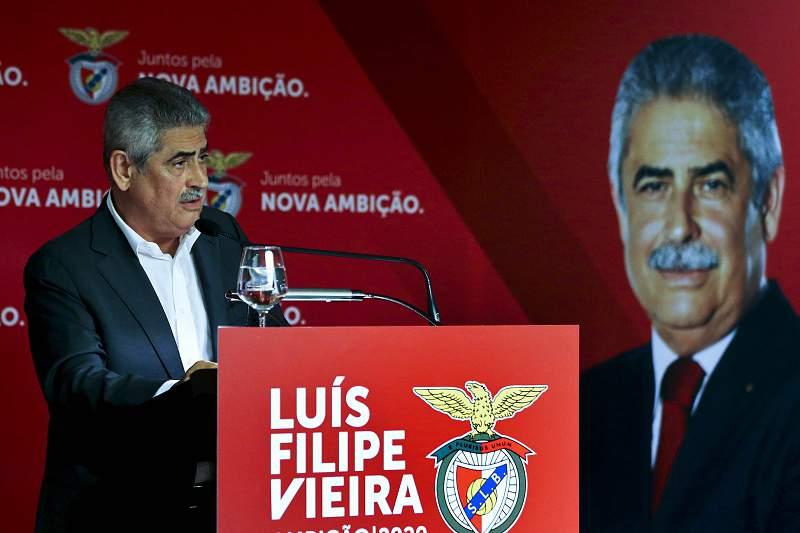 O presidente do Sport Lisboa e Benfica, Luis Filipe Vieira