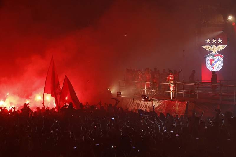 Benfica celebra a conquista do 34º título de campeão nacional