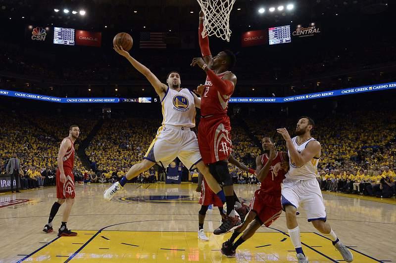Klay Thompson em ação pelos Golden State Warriors