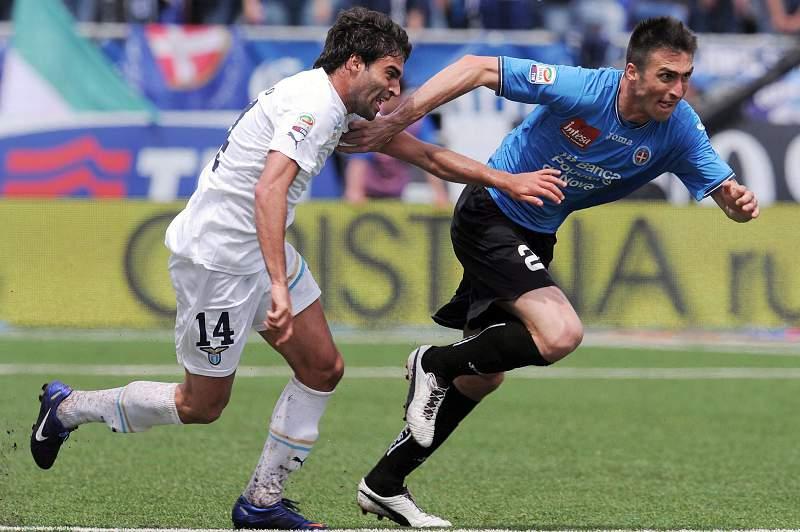 Javier Garrido (E) ao serviço da Lazio