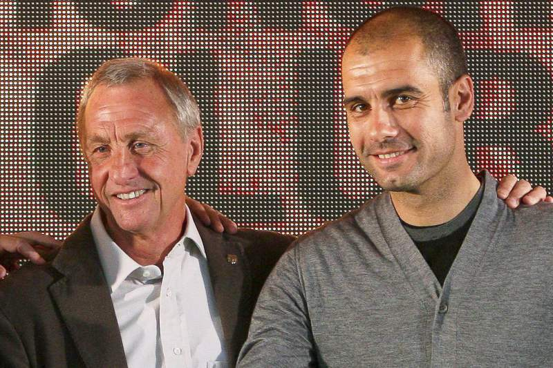 Johan Cruyff e Pep Guardiola