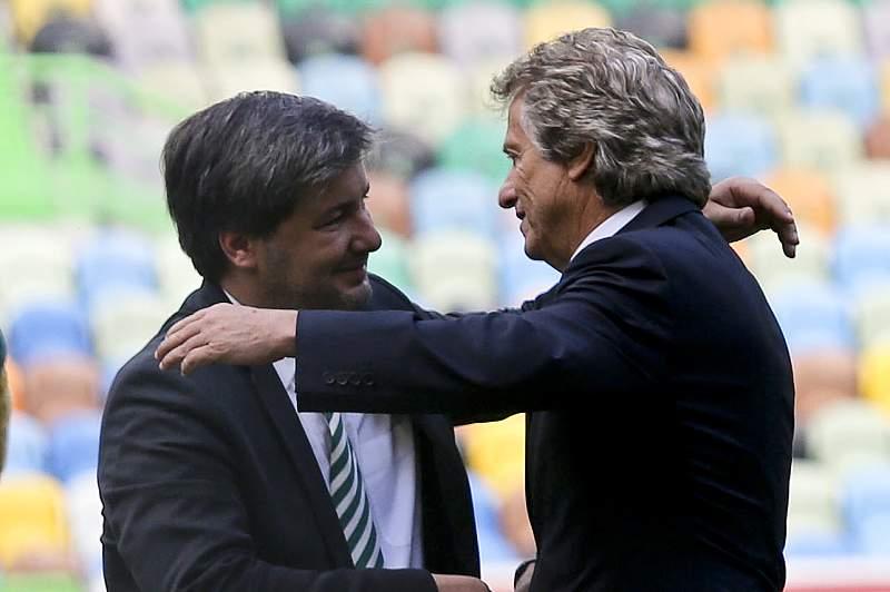 Jorge Jesus com Bruno de Carvalho