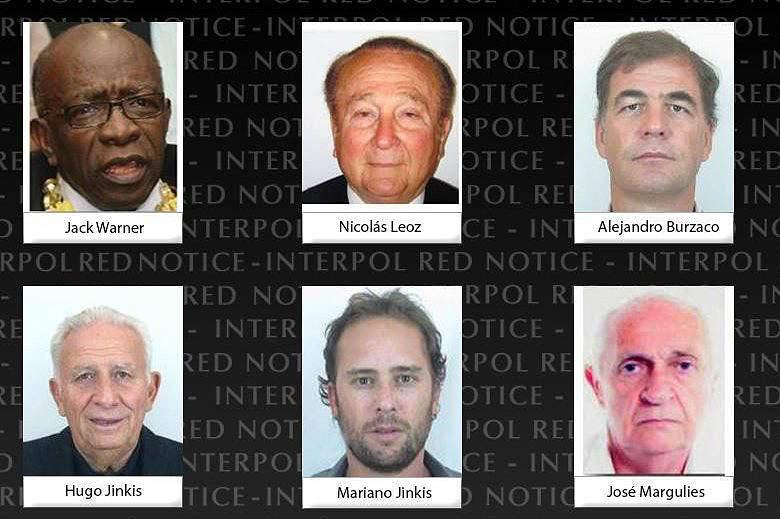 Suspeitos de corrupção na FIFA