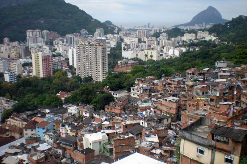 Morro Dona Marta, na Zona Sul do Rio de Janeiro