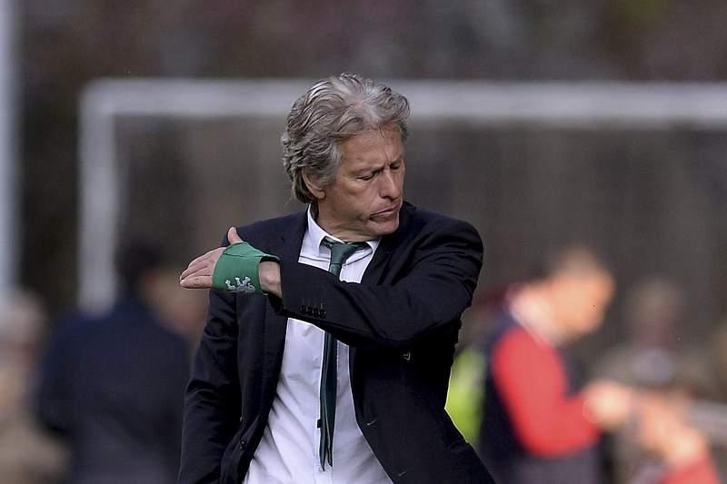 Jorge Jesus, treinador do Sporting, em Braga