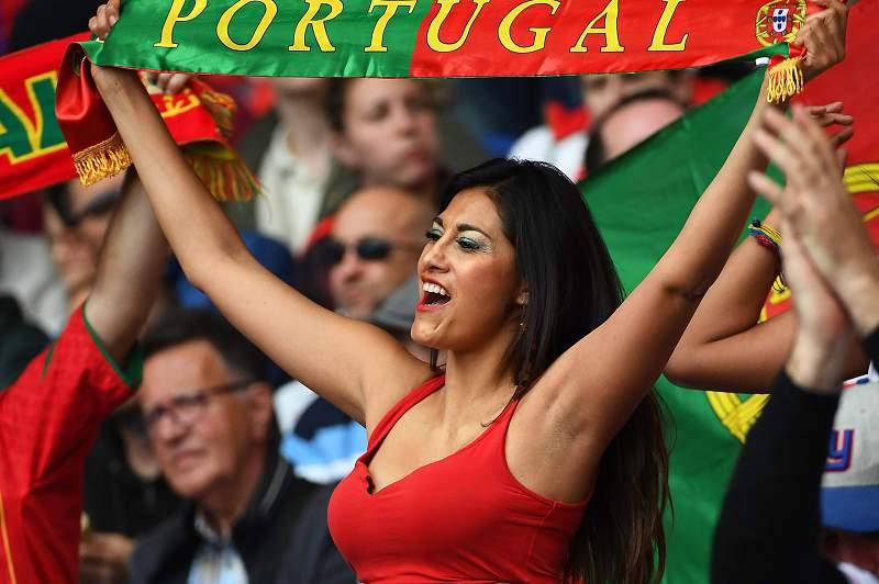 Portugal - Áustria: adepta de Portugal