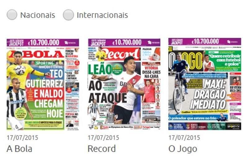 Revista de Imprensa de 17/07