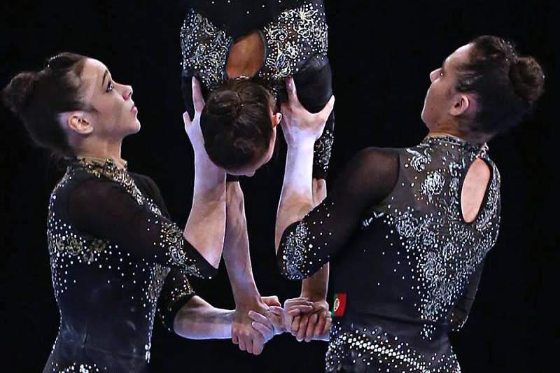 Trio luso conquista nova medalha de ouro nos europeus de ginástica acrobática