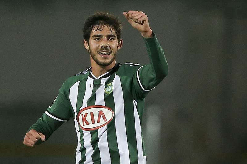 Vasco Costa celebra um golo frente ao Benfica