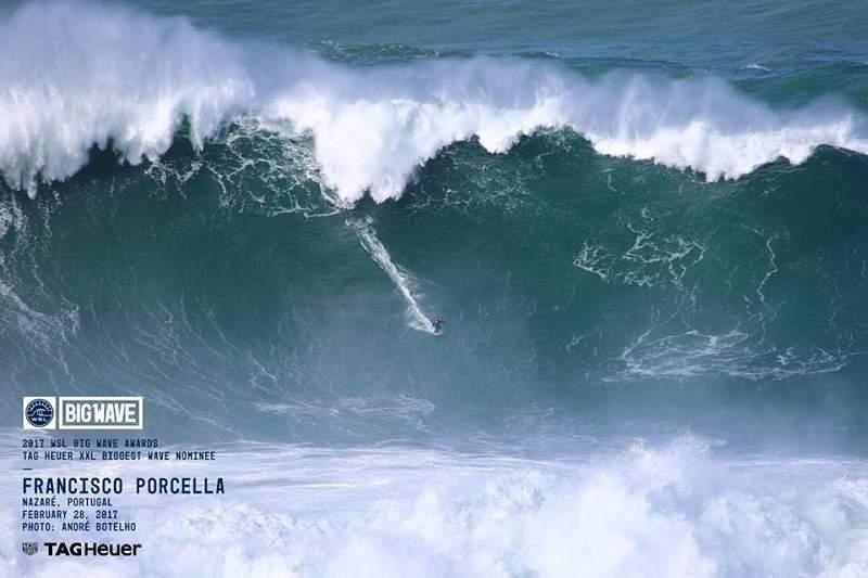 Francisco Porcella surfou a maior onda na Nazaré