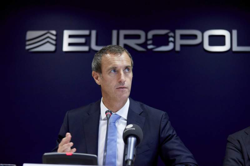 Europol news conference in The Hague