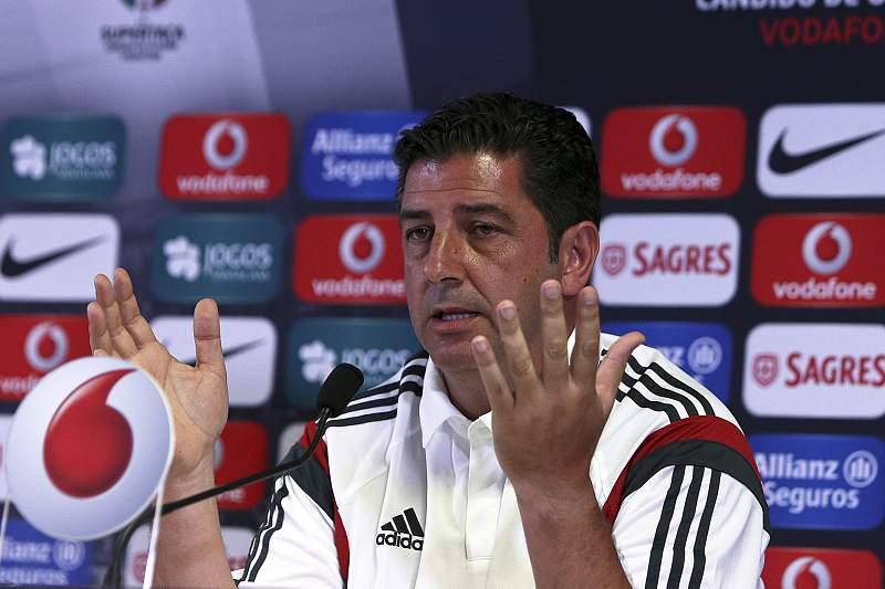 O treinador do Sport Lisboa e Benfica, Rui Vitória