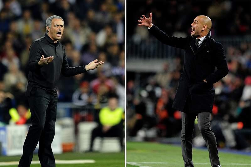 José Mourinho e Pep Guardiola