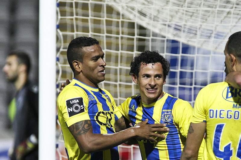 Danilo Dias festeja o golo ao Sporting