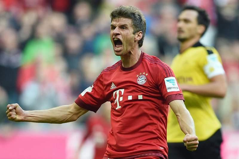 Thomas Mueller abriu o marcador na goleada do Bayern Munique sobre o Borussia Dortmund