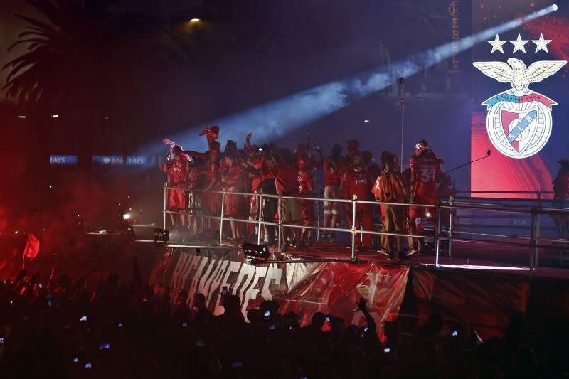 Benfica wins the Portuguese Soccer First League Championship