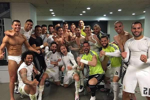 Festa do Real Madrid em Camp Nou