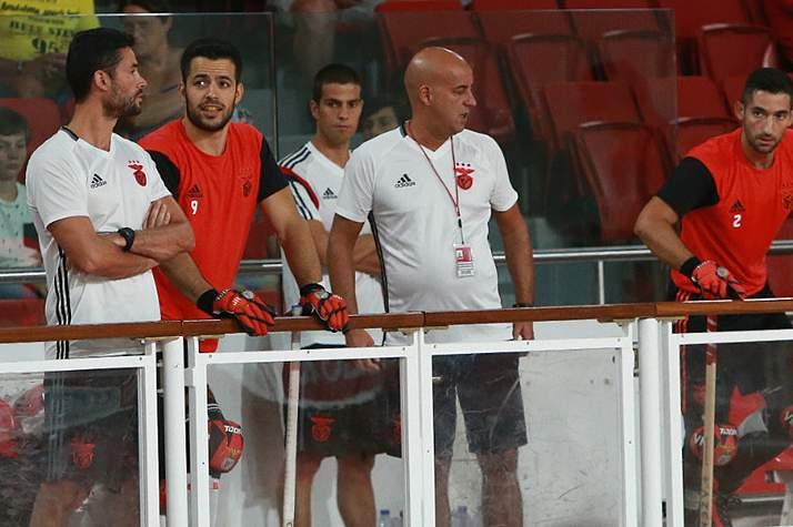 Pedro Nunes durante um jogo do Benfica no Pavilhão da Luz