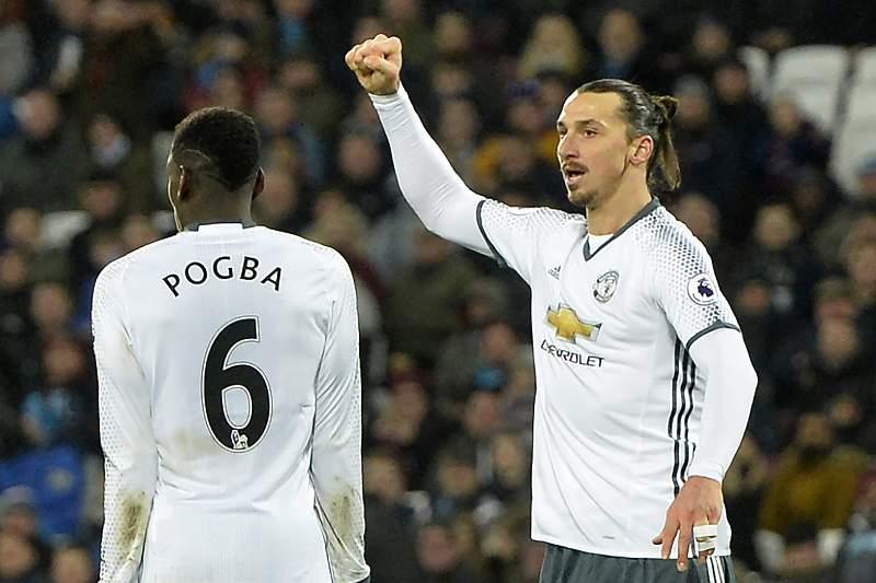 Zlatan Ibrahimovic e Paul Pogba