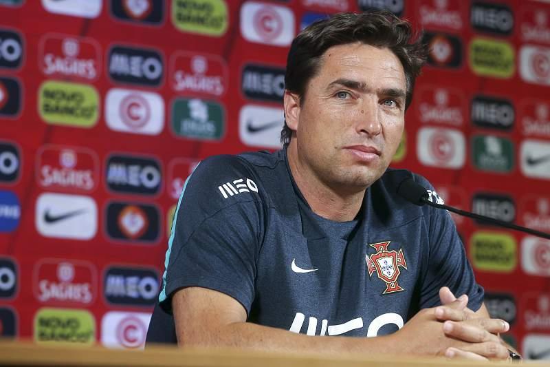 Conferência de imprensa do selecionador português, Rui Jorge, de antevisão do jogo com a Grécia