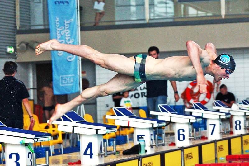 Luís Vaz, nadador do Grupo Desportivo de Natação de Famalicão
