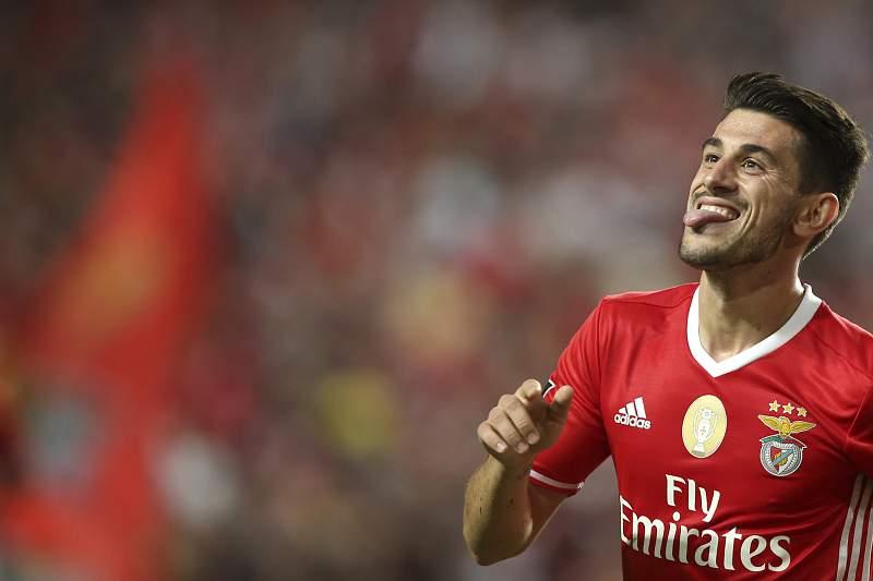Pizzi festeja golo do Benfica frente ao Paços Ferreira