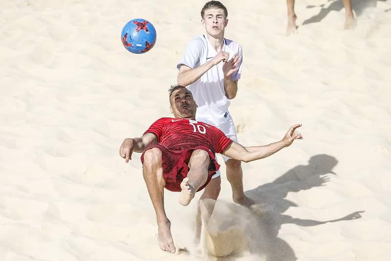 Belchior, jogador da Seleção portuguesa de futebol de praia
