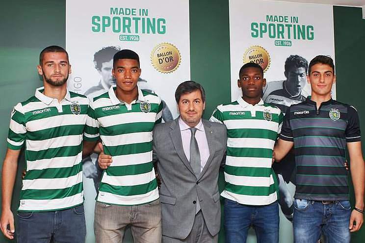 Domingos Duarte, Ivanildo Fernandes, Pedro Silva e Rafael Leão