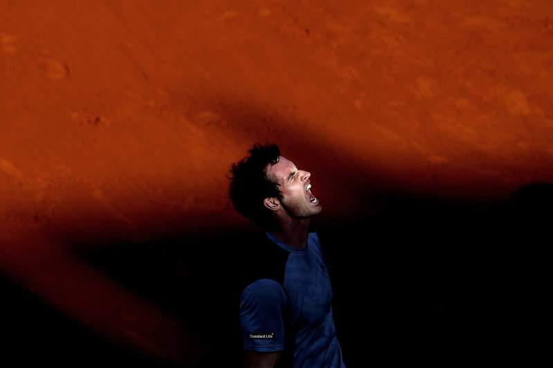 Murray reage após a vitória sobre Ferrer