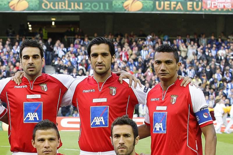 Equipa titular do SC Braga na final da Liga Europa de 2011