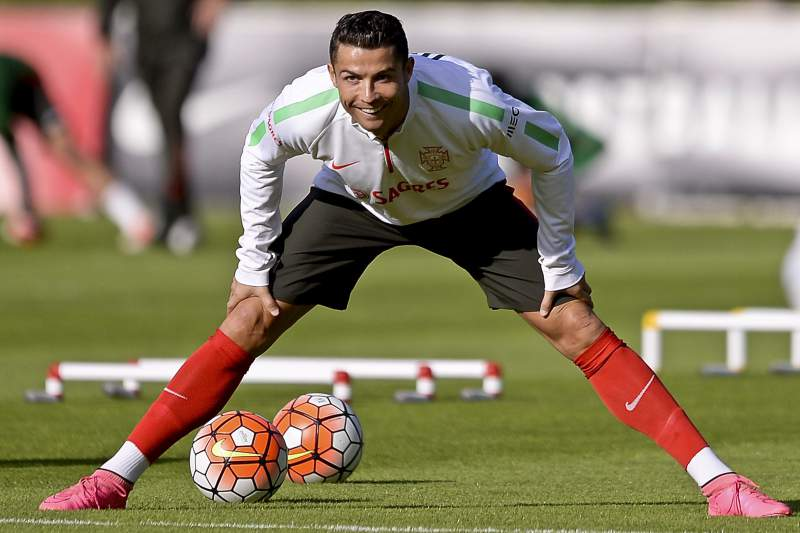 Portugal national soccer team training session