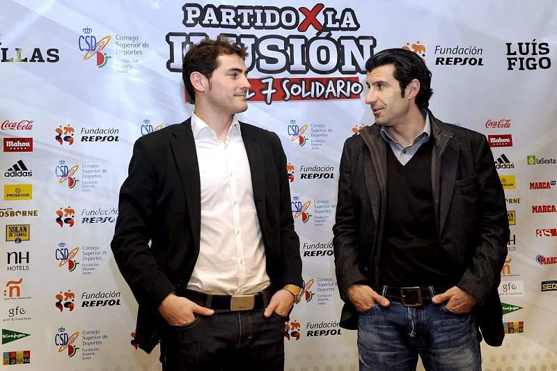 Iker Casillas e Luís Figo