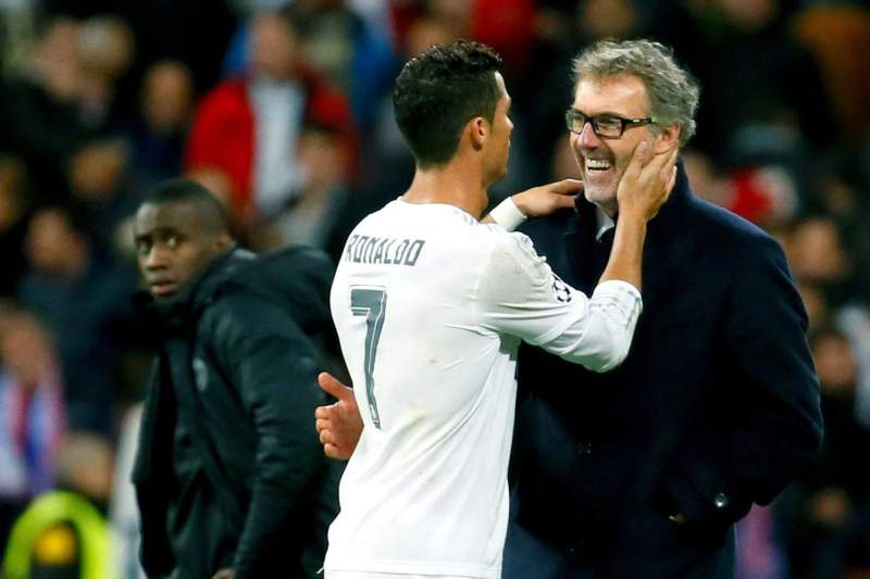 Cristiano Ronaldo e Laurent Blanc