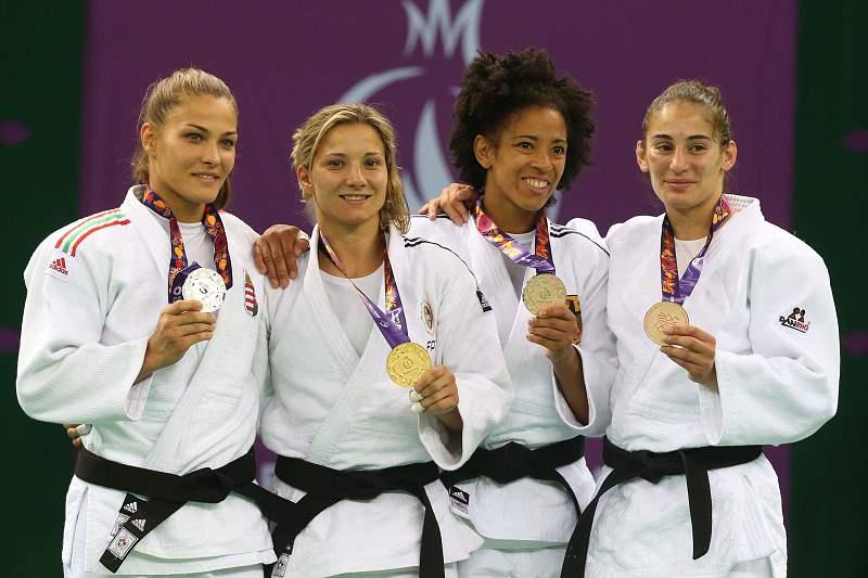 Telma Monteiro e a medalha de ouro